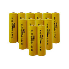 12 pack AA NiCd Rechargeable Batteries 1000mAh 1.2V Button Top