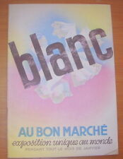 CATALOGUE AU BON MARCHE LE BLANC JANVIER 1934