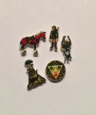 5 LOT LINK ZELDA FLOATING LOCKET CHARMS GREAT DEKU TREE EPONA TRIFORCE
