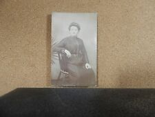 Edwardian Middle Age lady sat on Chair real photo unposted  xc1