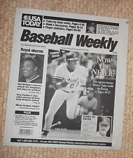 USA TODAY baseball weekly newspaper printing plate september 26 1991 pennant 91