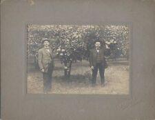 ORIGINAL 1909 PHOTOGRAPH OF TWO MEN IN A ORANGE GROVE - ORLANDO, FLORIDA