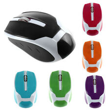 2,4 G 1200DPI Caramelo Color USB Optical Mouse Mini Inalámbrico Ratón