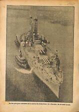 Cruiser USS Nevada US Navy Marine Etats Unis United States WWI 1917 ILLUSTRATION