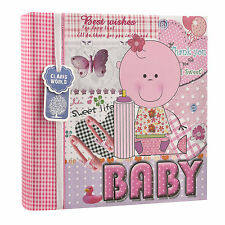 """Baby Girl Rosa Promemoria Slip in Album Fotografico Foto 200 6""""x4'' REGALO IDEALE al-9773"""