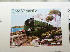 FRANCE 2014, timbre AUTOADHESIF TRAIN LOCOMOTIVE MIKADO 141 neuf**, MNH STAMP