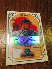 2004 Donruss Diamond Kings Dan Haren #1/1 Jersey Bat #98 AUTO Autograph
