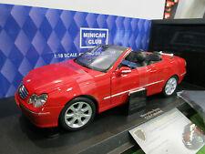 MERCEDES-BENZ CLK CABRIOLET rouge au 1/18 de KYOSHO 09003R voiture miniature
