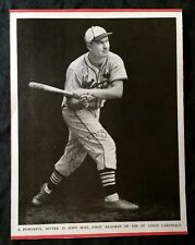 1937 JOHNNY MIZE SIGNED Baseball Magazine Cover hof St Louis Cardinals Team 30s