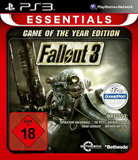 Playstation 3 Spiel: Fallout 3 PS-3 GOTY Essentials RELA Game of the Year Neu