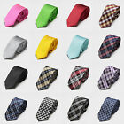New Stripe Plaid Fashion Tie JACQUARD WOVEN Men's Silk Suits Skinny Ties Necktie