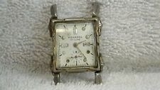 17 JEWEJ SWISS MONARCH WATCH CO. IN A PLATED BASE METAL W/STAINLESS BACK
