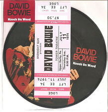 "David Bowie ""Knock on wood"" 40th Anniversary picture disc 7"" vinyle + ticket schema"