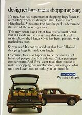 Original 1978 Honda Civic Magazine Ad - Designed Around a Shopping Bag