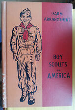 1961 Hard Cover Boy Scout Manual Farm Arrangement Ex Library Book