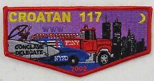 OA Lodge 117 Crotan S39 Flap 2002 Conclave; Twin Towers, Firetruck, Pol  [D1232]