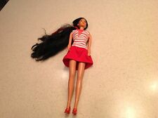 Vintage Barbie Asian With Clothes Mattel 1966 Hong Kong Very nice Used Cond.
