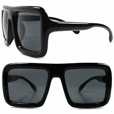 Vintage Retro Hip Hop Mens Womens Square Large Oversized Thick Frame Sun Glasses