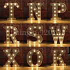 """Silver LED 12"""" Marquee Letter Lights Vintage Circus Style Alphabet Light Up"""
