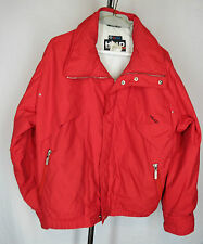 vtg HEAD Insulated Jacket Lined Windbreaker SKI Bright Red Full Zip EUC Size Med