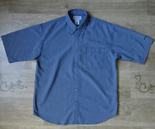 Columbia short sleeve checkered  shirt  size M/L (label M) ,Great condition !