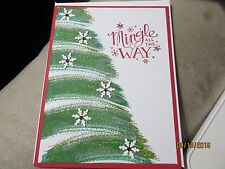 Handmade Christmas Card - Mingle all the Way - Using Stampin' Up products