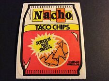Vintage 80s Mello Smello Scratch and Sniff Stickers Mod RARE - Nachos