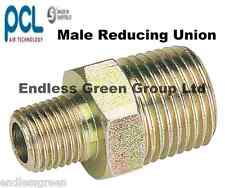 PCL MALE Reducing Union - Air compressor hose / line fitting 3/8 x 1/4 BSP 25826