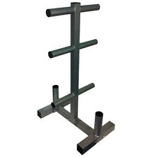 "EVINCO Olympic Weight Plate Tree Rack Stand for 2"" Plates/Discs 2 Bar Holder"