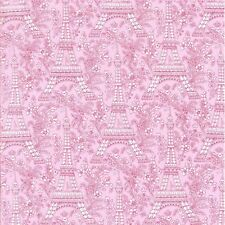 Michael Miller France French Petite Paris Eiffel Tower Rose Fabric