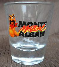 """Shot Glass Mezcal Monte Alban Tequila with Worm Mascot 2 fl. oz.  2"""" x 2.5"""" New"""