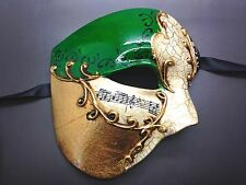 PHANTOM OF THE OPERA VENETIAN MASQUERADE MARDI GRAS COSTUME HALF MUSICAL MASK