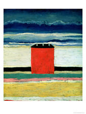 Kasimir Malevich Abstract Oil Painting repro Red House, 1932