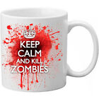 Keep Calm and Kill Zombies Novelty Blood Spatter Bloody Present Gift Mug