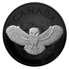 NOCTURNAL BY NATURE THE BARN OWL 2017 $20 1 oz Fine Silver Coin Royal Canadian