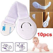 Children Baby Infant Kids Drawer Door Locks Cabinet Cupboard Safety Locks 10pcs