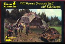 Caesar Miniatures 1/72 WWII GERMAN COMMAND STAFF with KUBELWAGEN Figure Set