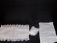 Vintage  Barbie Doll Bed & Original Bedding, Complete,  sheet blanket pillow