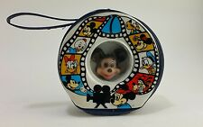 Vintage Walt Disney Mickey Minnie Mouse Movie Reel Case Vinyl Plastic Purse Bag