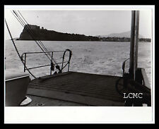 FOTOGRAFIA PHOTO VINTAGE B/N BLACK AND WHITE 1978 PROCIDA VISTA DAL MARE
