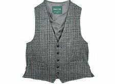 Tweed Vest Mens Fullback Grey Plaid Made in Ireland XL