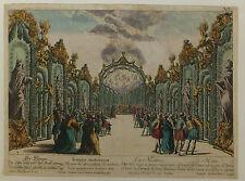 Temple de Vénus Versailles France vue d'optique XVIIIème siècle