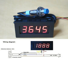 Punch Tachometer RPM Speed Meter Digital LED+ Hall Proximity Switch Sensor 12V R