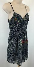 Anthropologie Staring At Stars Size 2 Paisley Floral Blue Dress Sundress #66170