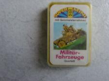 Militär-Fahrzeuge -Mini  Quartettspiel -alt von FX Schmid- - sehr schön