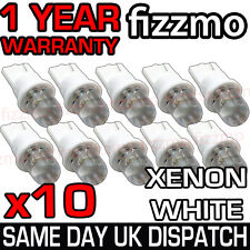 10x LED 501 W5W T10 cuneo PUSH HID Xenon Bianco Lato Lampadine UK 1YR WARRANTY