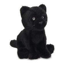 Pantera nera seduto 15 cm peluche morbido WWF Collezione 16840
