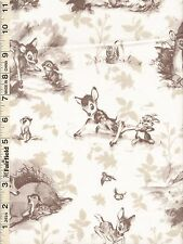 Disney Bambi Woodland Scenic Toile Fabric by Springs Creative 1 yd 9""