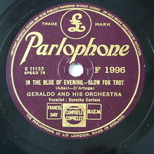 78rpm GERALDO ORCH in the blue of evening / sunday monday or always