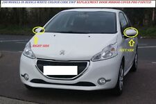 PEUGEOT 208 12- 16 Wing Mirror Cover LEFT Sprayed  PEUGEOT BIANCA WHITE EWP